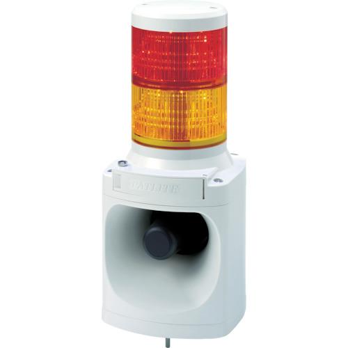 パトライト LED積層信号灯付き電子音報知器 色:赤・黄 LKEH-220FA-RY