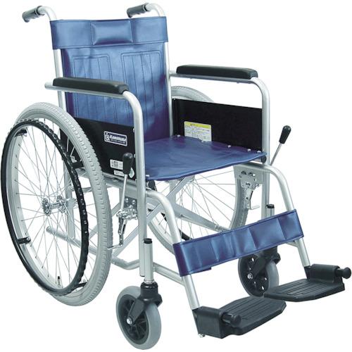 【運賃見積り】【直送品】カワムラ スチール製車椅子 座幅42CM KR801N