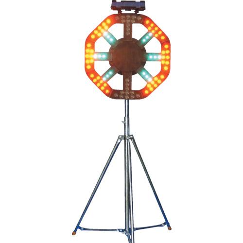 【運賃見積り】【直送品】グリーンクロス ソーラー式警告灯 三脚付 1109500201