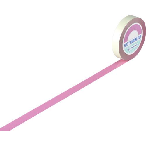 緑十字 ガードテープ(ラインテープ) ピンク 25mm幅×100m 屋内用 148027