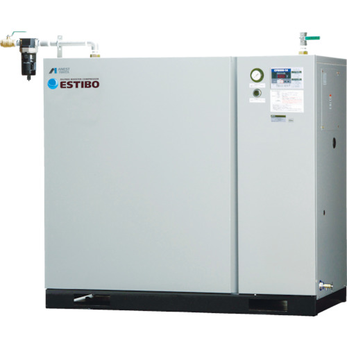 【直送品】アネスト岩田 オイルフリーブースターコンプレッサ 7.5KW 60Hz CFBS75BF-20M6