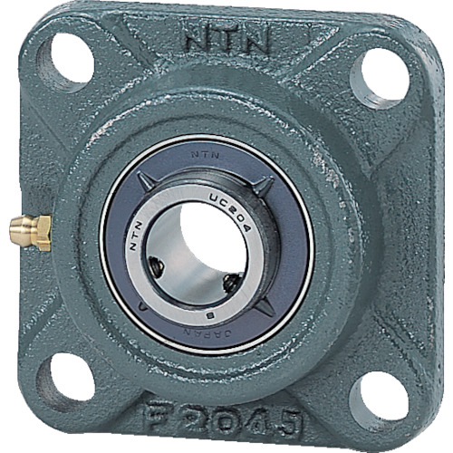 NTN 軸受ユニット(円筒穴形、止めねじ式)軸径80mm全長214mm全高214mm UCFX16D1