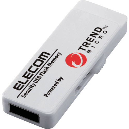 エレコム セキュリティ機能付USBメモリー 8GB 5年ライセンス MF-PUVT308GA5