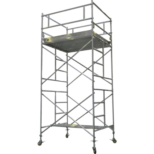 【運賃見積り】【直送品】ピカ アルミパイプ製移動式足場ARA-A型 3段アウトリガー付き ARA-3HA