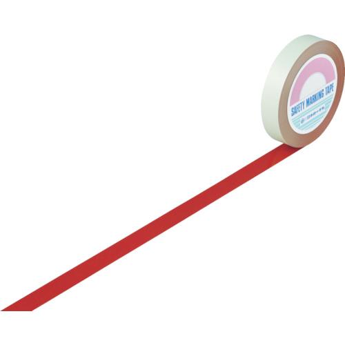 緑十字 ガードテープ(ラインテープ) 赤 25mm幅×100m 屋内用 148014