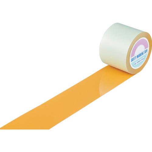 緑十字 ガードテープ(ラインテープ) オレンジ 100mm幅×100m 屋内用 148135