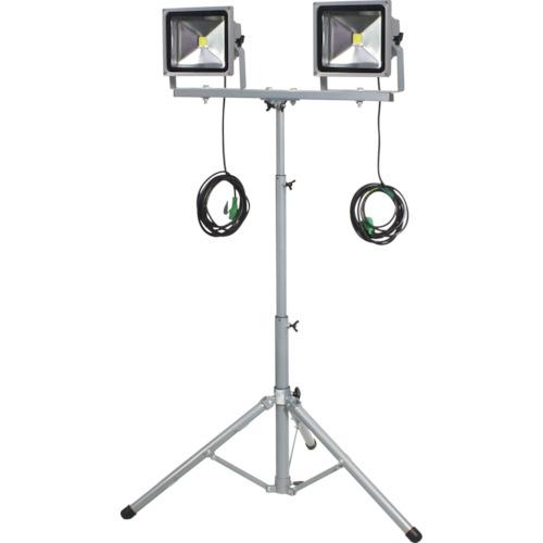 人気 30W LPR-S30LW-3ME:KanamonoYaSan LED作業灯  KYS 二灯式三脚 日動-DIY・工具