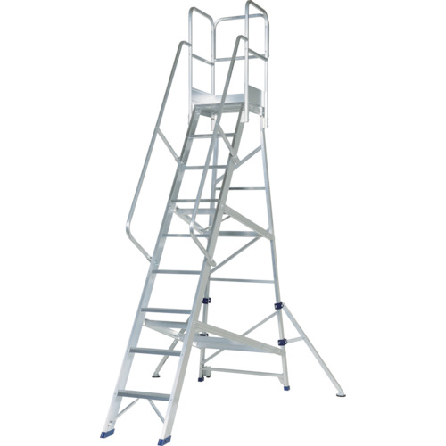 【運賃見積り】【直送品】ピカ アルミ合金製作業台 DWS型 2.7m 手すりH1100 DWS-270B11H