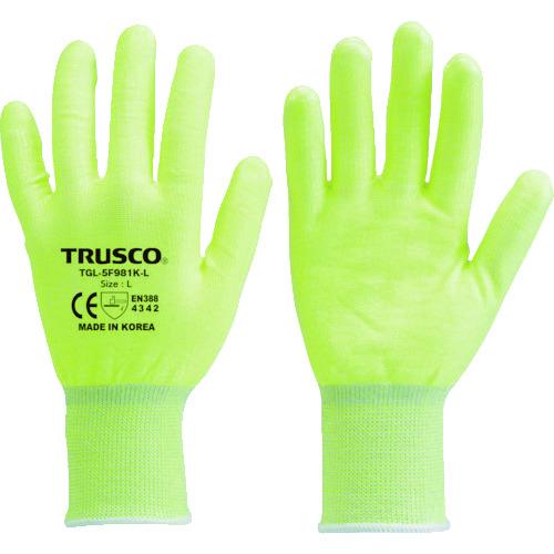 訳ありセール 格安 TRUSCO 耐切創手袋 オンライン限定商品 レベル3 L TGL-5F881K-L 蛍光イエロー