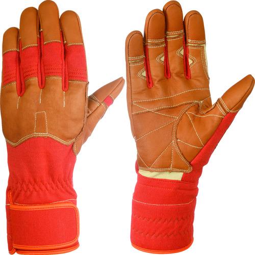 シモン 災害活動用保護手袋(アラミド繊維手袋) KG-160オレンジ KG160-M