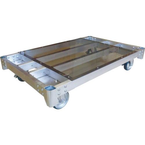 【運賃見積り】【直送品】カンベ アルミ製平床運搬台車150mmキャスター仕様 ALH1275-150