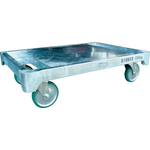【運賃見積り】【直送品】カンベ スチール製平床運搬台車天板鉄板タイプ H1280DT