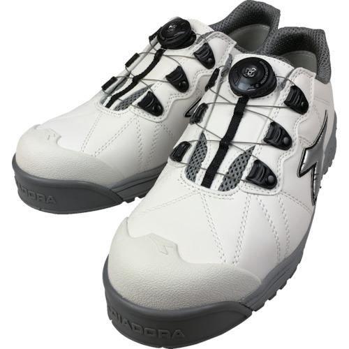 ディアドラ DIADORA安全作業靴 フィンチ 白/銀/白 24.5cm FC181-245