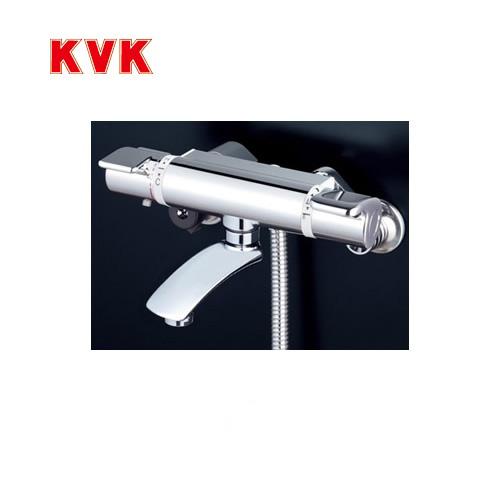 [KF890S2]KVK 浴室水栓 シャワー水栓 サーモスタットシャワー金具(壁付きタイプ) フルメッキワンストップシャワーヘッド付 ニューハイメタルホース1.6m 洗い場専用水栓 快適節水シャワー 取付穴径(mm):φ23~φ25 蛇口 【送料無料】 壁付タイプ