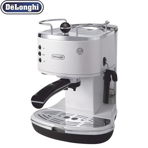 [ECO310W] デロンギ コーヒーメーカー アイコナ・コレクション エスプレッソ・カプチーノメーカー 二重構造のスチームノズル カップウォーマー ホワイト