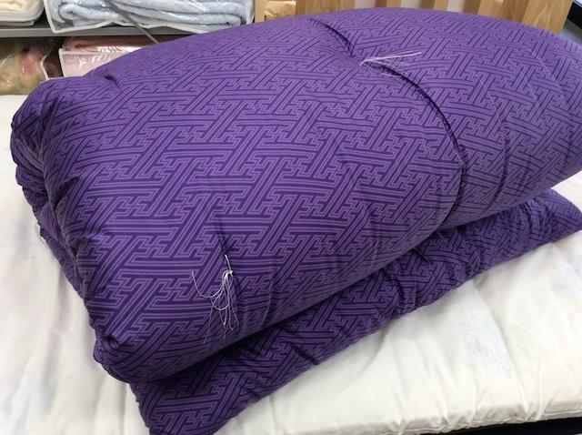 【長寿祝い】紫の布団【敷布団】シングル 当店製造のふかふか綿布団