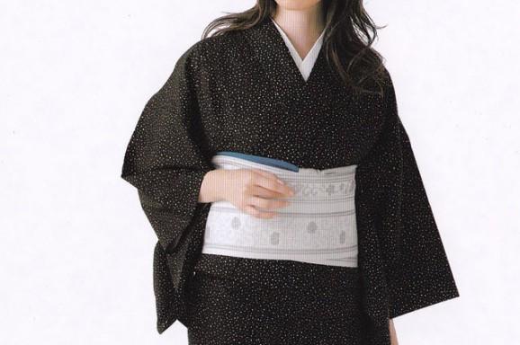源氏小紋【12】 ウールの着物