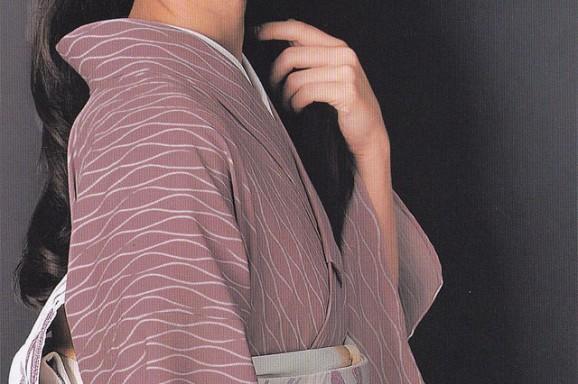 源氏小紋【43】 ウールの着物