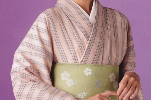 源氏小紋【51】 ウールの着物
