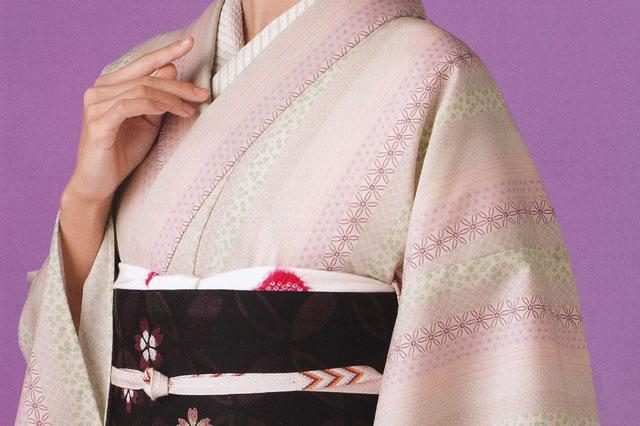 源氏小紋【53】 ウールの着物