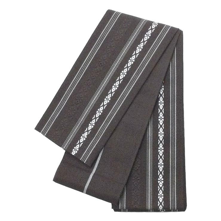 角帯 綿 献上柄 焦げ茶 着物 浴衣 数量は多 お求めやすく価格改定 ブラウン