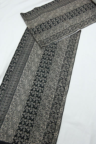 伝統工芸 江戸小紋-手織り紬-103-f2636-2