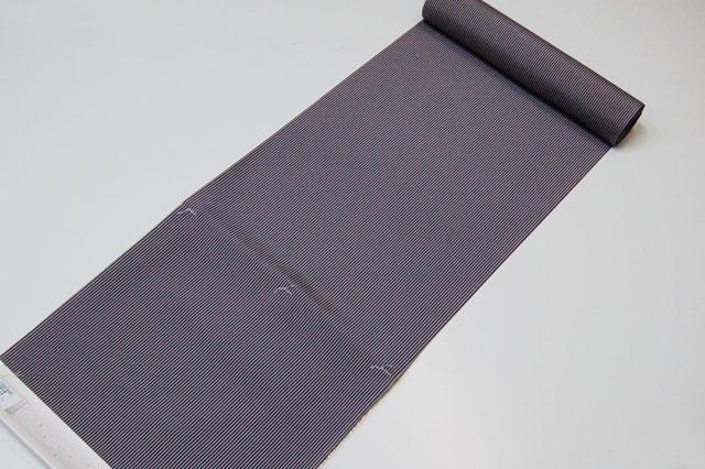 おしゃれ長襦袢 紫地に縞模様 千筋