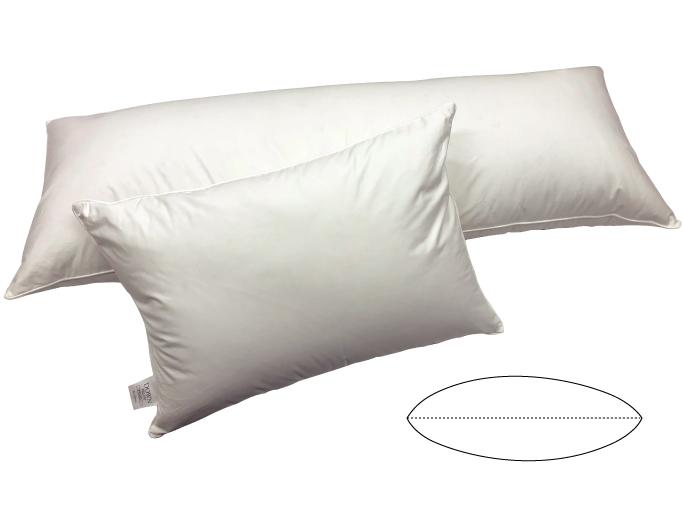 ダウンピロー(羽毛枕)【プレーンスリーパー】お好きなサイズでお休みください♪ M120サイズ 43×120cm