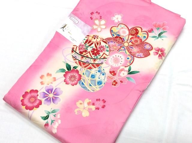 女の子初着 正絹 一つ身 お祝着 ピンク 鞠桜 35gk-j0002sb-2