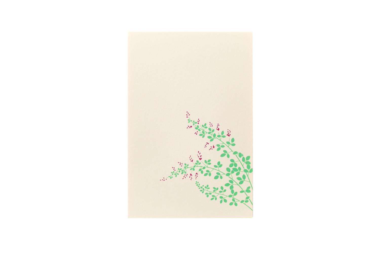 商店 鳩居堂 シルク刷はがき 萩B 国際ブランド