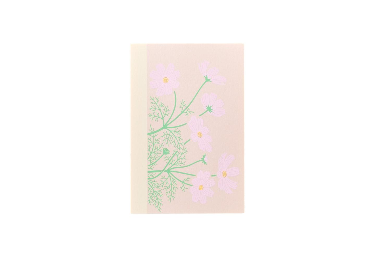 鳩居堂 永遠の定番モデル 品質検査済 シルク刷はがき 全面 秋桜