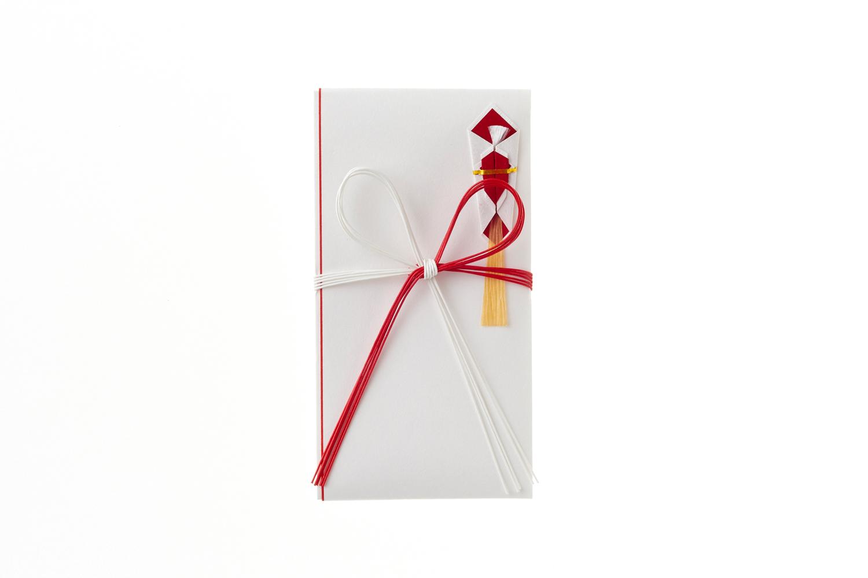 鳩居堂 通常便なら送料無料 祝儀袋 金封 おしゃれ 御祝 御礼 一般御祝用金封 新札型花結白赤たとうQ559