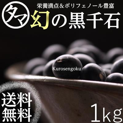 罕見幻影黑色幽靈仙谷由人 1 千克 (黑豆) 近年來採取在電視上,包括營養和富含多酚的黑豆微細粒北海道、 岩手縣黑仙谷由人大豆