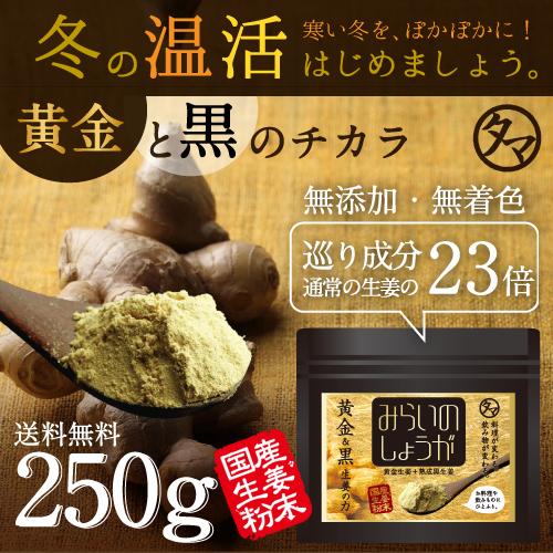 みらいのしょうが【黄金生姜粉末】サムネイル02