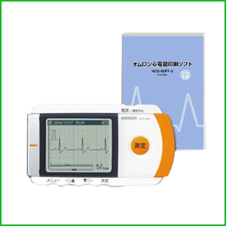 オムロン 携帯型心電計 HCG-801 心電図印刷ソフトセット(心電計)