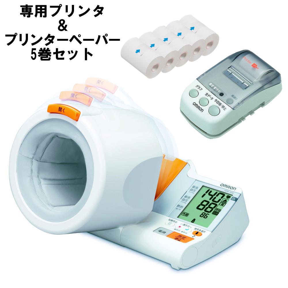 オムロン デジタル自動血圧計 HEM-1040本体+専用プリンタ HHX-PRINT&プリンターロール紙(感熱紙) (5巻入) HEM-PAPER-759P セット