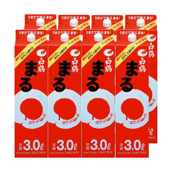 白鶴 まる3000mlパック4本入×2ケース(8本)