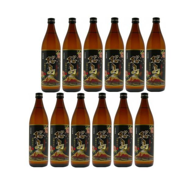 本格芋焼酎 黒桜島(黒麹)25度900ml瓶1ケース(12本)