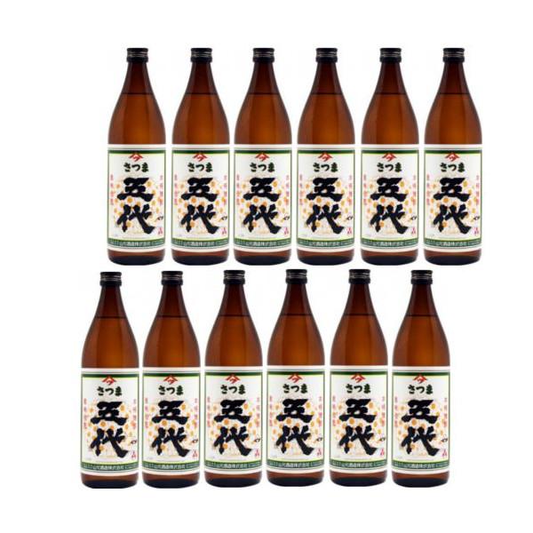 本格芋焼酎 さつま五代25度900ml瓶1ケース(12本)