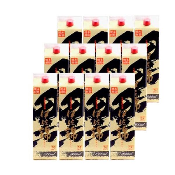 本格芋焼酎 黒伊佐錦(黒麹)25度1800mlパック2ケース(12本)