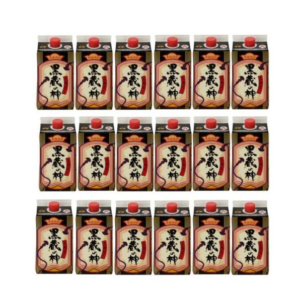 本格芋焼酎 黒蔵の神 (黒麹)25度900mlパック3ケース(18本)