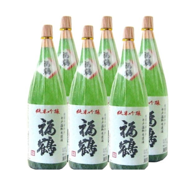 福鶴 純米吟醸1800ml瓶×6本[長崎県:福田酒造][箱付]