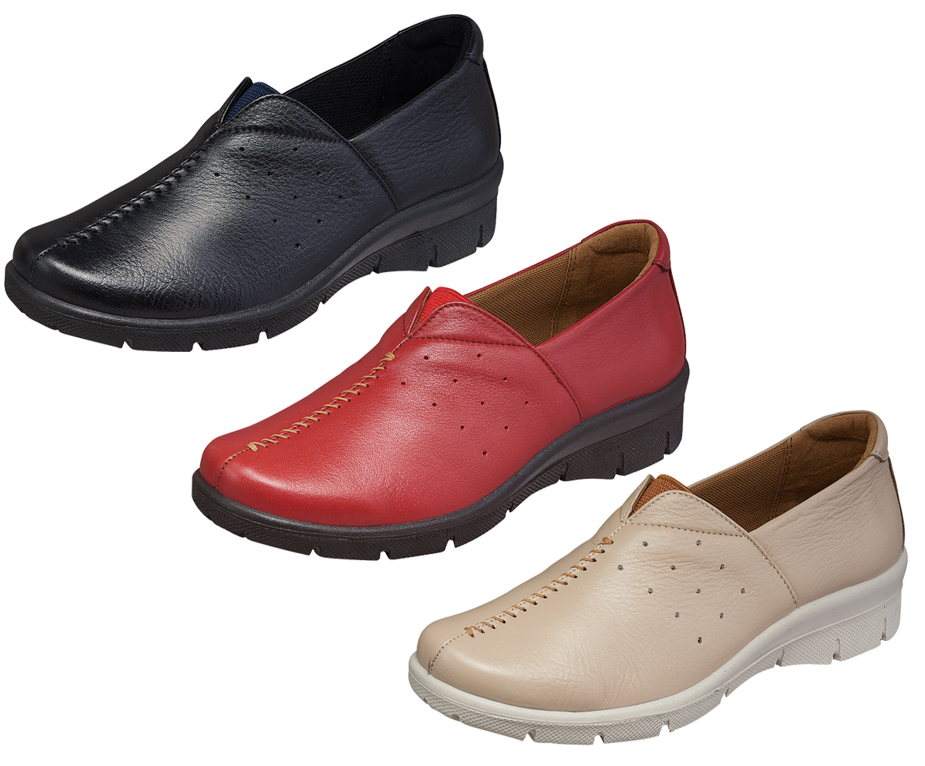 ムーンスター スポルスSP2333 21.5-25cm bk42323686 red 2 be 8 (送料無料)婦人靴 SPORTH 本革 日本製コンフォートシューズSP2633