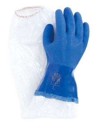 ビニスター腕カバー付き耐油657 10双 東和コーポレーション 腕カバー付手袋
