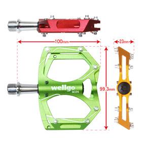 数控合金扁踏板 M194 铝 ペダルブラックレッドゴールドグリーンチタンシルバー 自行车脚踏板自行车脚踏板自行车公路自行车和山地自行车左、 右双自行车安全存储自行车 9 集合