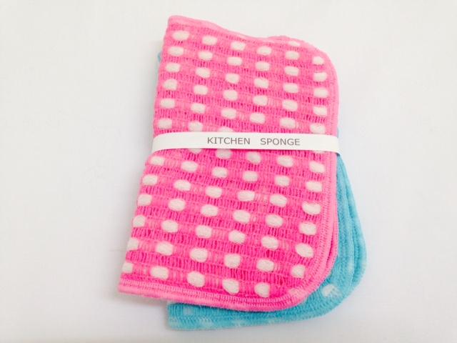 あす楽対応 めっちゃ使いやすい 蔵 キッチンスポンジ 2枚組 ピンク ブルー 再販ご予約限定送料無料