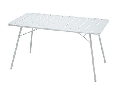 ニチエス フェルモブ ルクセンブールテーブル80×143/01ホワイト