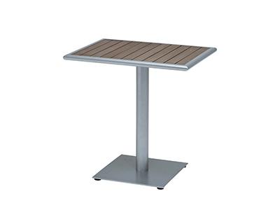 ニチエス マイオリ NC ROMビストロテーブル55×75/シルバー+ブラウン