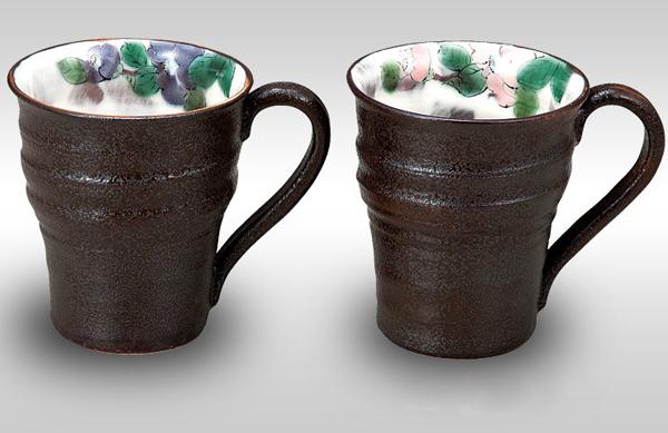 K4-984 九谷焼 ペアマグカップ 椿