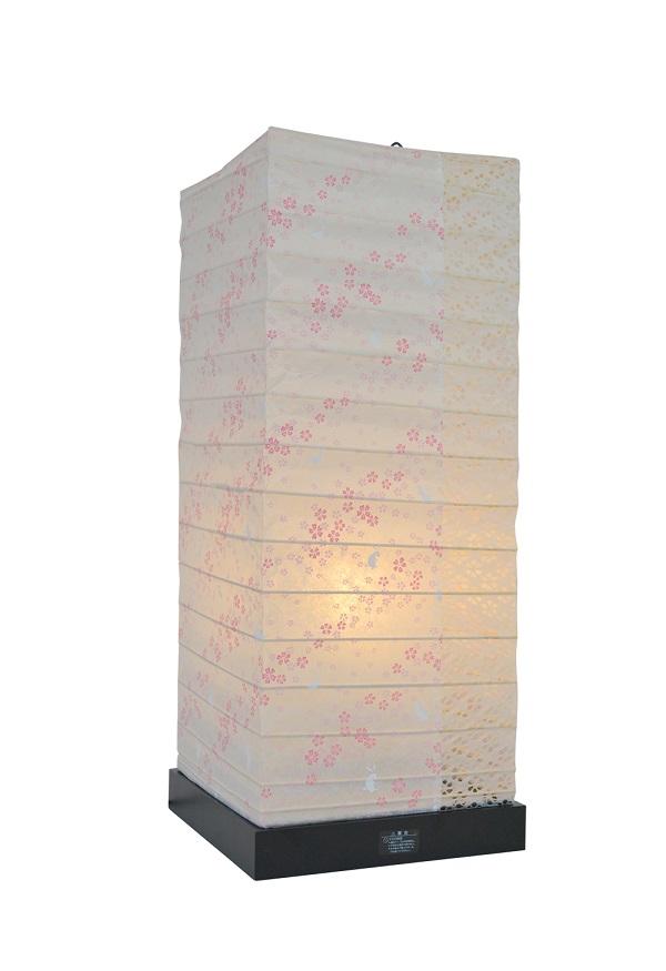 彩光デザイン TableLamp SS-3082 花うさぎピンク×小梅白